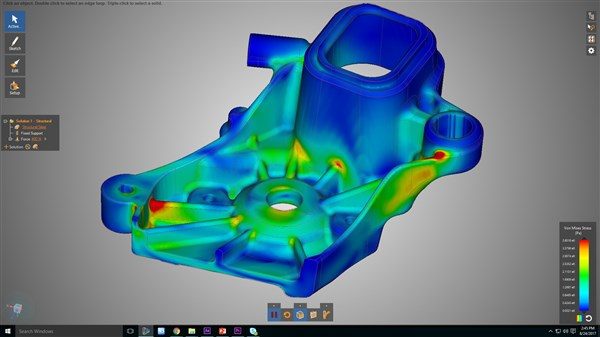 Ansys 3D Design structural simulation model